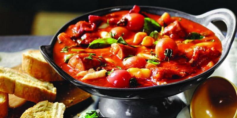 Butterbean, Sausage & Veggie Stew